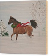 Dashing Thru The Snow Wood Print