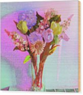 Dating Flowers Wood Print