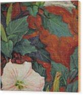 Datura Flower Wood Print