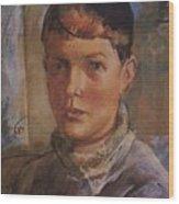 Daughter Of The Artist 1933 Kuzma Sergeevich Petrov-vodkin Wood Print