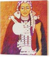 Daughter Of The Bright Sun - Kushe Wood Print