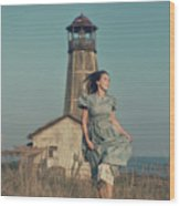 Daughter Of The Lighthouse Keeper Wood Print