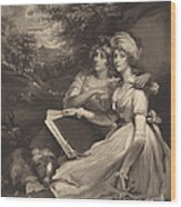 Daughters Of Sir Thomas Frankland Bart (the Sisters) Wood Print