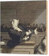 Daumier: Advocate, 1860 Wood Print