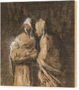 Daumier: Virgin & Child Wood Print