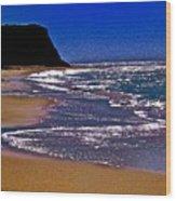 Davenport Landing Beach Purple Wood Print
