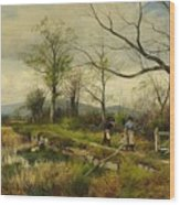 David Bates England Wood Print