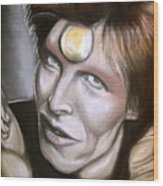 David Bowie As Ziggy Stardust Wood Print
