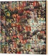 David Bowie Collage Mosaic Wood Print