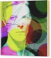 David Bowie Futuro  Wood Print
