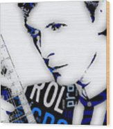David Bowie Ground Control To Major Tom Wood Print