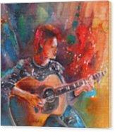 David Bowie In Space Oddity Wood Print