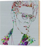 David Bowie Wood Print by Naxart Studio