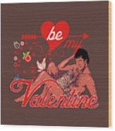 David Hasselhoff Valentine' Day Wood Print