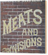 David Mann - Meats And Provisions Wood Print