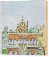 David Sasson Library Mumbai Wood Print