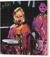 David Wingo On Stage Wood Print