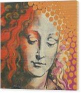Davinci's Head Wood Print