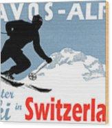 Davos, Alps, Mountains, Switzerland, Winter, Ski, Sport Wood Print
