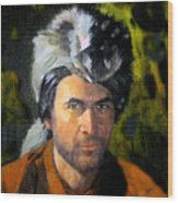 Davy Crockett Wood Print