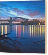 Dawn Along The River Wood Print by Steven Llorca