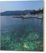 Dawn Arrives At Lake Tahoe  Wood Print