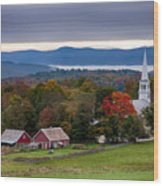 dawn arrives at sleepy Peacham Vermont Wood Print