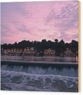 Dawn At Boathouse Row Wood Print