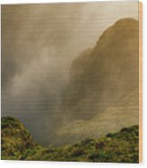 Dawn At Fogo Crater Wood Print