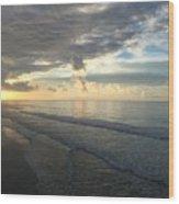 Dawn At Folly Beach Wood Print