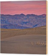 Dawn At Mesquite Flat #3 - Death Valley Wood Print