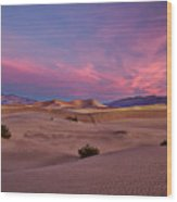 Dawn At Mesquite Flats #2 - Death Valley Wood Print
