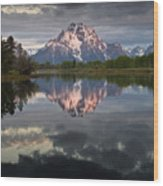 Dawn At Oxbow Bend Wood Print
