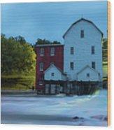 Dawn At Phelps Mill Wood Print