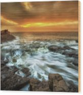 Dawn At Porthcawl Wood Print