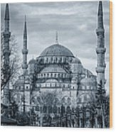 Dawn At The Blue Mosque Wood Print
