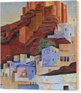 Dawn At The Fort In Jodhpur  Wood Print