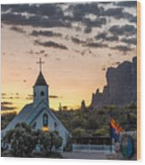 Dawn At The Superstitions Wood Print