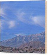 Dawn Eastern Sierra Nevada Mountains Wood Print
