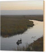 Dawn Everglades Florida Wood Print