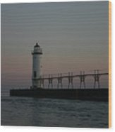 Dawn Light House Wood Print