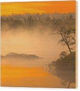Dawn Mists Wood Print