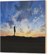 Dawn Of A New Day Sunrise 140a Wood Print