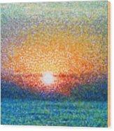 Dawn On A Caspian Sea Wood Print