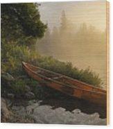 Dawn On Boot Lake Wood Print