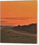 Dawn On Highway 61 Wood Print