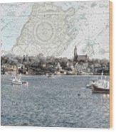 Dawn On Marblehead Harbor Wood Print