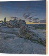 Dawn On Sentinel Wood Print