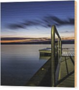Dawn On Skaneateles Lake Wood Print