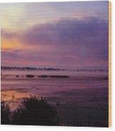 Dawn On The Mississippi Wood Print